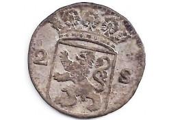Holland 2 stuiver (dubbele stuiver) 1733 F