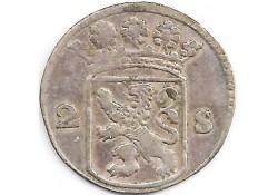 Holland 2 stuiver (dubbele stuiver) 1744 F