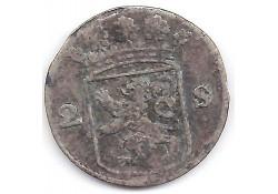 Holland 2 stuiver (dubbele stuiver) 1752 F