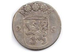 Holland 2 stuiver (dubbele stuiver) 1753 F-