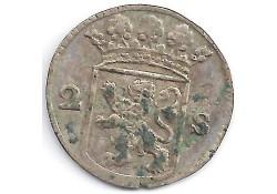 Holland 2 stuiver (dubbele stuiver) 1754 F