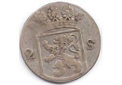 Holland 2 stuiver (dubbele stuiver) 1760 F-