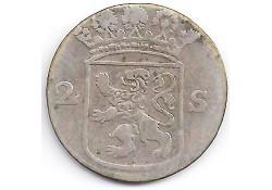 Holland 2 stuiver (dubbele stuiver) 1763 F