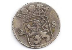 holland 2 stuiver (dubbele stuiver) 1764 F