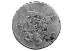 Holland 2 stuiver (dubbele stuiver) 1770 F-