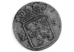 Holland 2 stuiver (dubbele stuiver) 1774 F