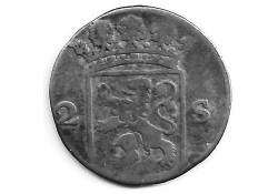 Holland 2 stuiver (dubbele stuiver) 1774 ZG
