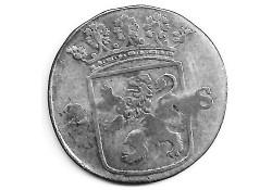 Holland 2 stuiver (dubbele stuiver) 1775 F-