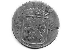 Holland 2 stuiver (dubbele stuiver) 1777 F-