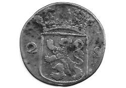 Holland 2 stuiver (dubbele stuiver) 1779 F