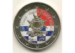 2 Euro Malta 2014 200 jaar politie van Malta Gekleurd