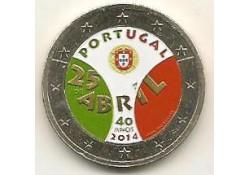 2 Euro Portugal 2014 40 jaar revolutie Gekleurd 225/2