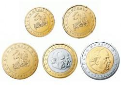 2002 10 cent t.m 2 euro Monaco UNC