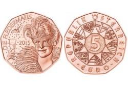 5 Euro Oostenrijk 2015 vleermuis Unc
