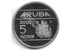 5 Florin Aruba 2002 Proef Ontwerp