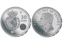 Spanje 2013 30 Euro 75e verjaardag van Juan Carlos