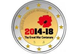 2 Euro België 2014 1e wereldoorlog Gekleurd 218/8