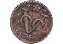 1 duit VOC Holland 1744 F