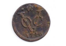 1 duit VOC Holand 1746 F+