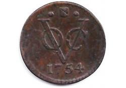 halve duit VOC Utrecht 1754 ZF
