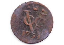 1 duit VOC Wesr-Friesland 1754 F+