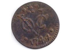 1 duit VOC Zeeland 1744 F