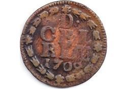1 duit Gelderland 1702 F