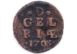 1 duit Gelderland 1703 F