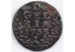 1 duit Gelderland 1753 F