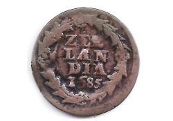 1 duit Zeeland 1685 F+