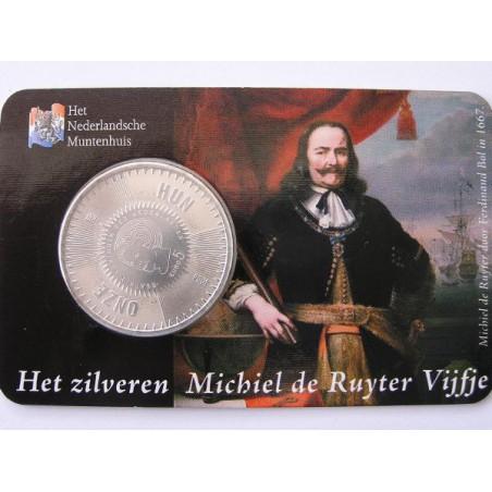 Nederland 2007 5 euro Michiel de Ruyter. Unc In Coincard Uitg. H