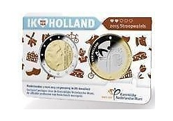 Nederland 2014 2 Euro Holand coin Fair in coincard met penning