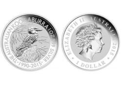 Australië 1 Dollar Kookaburra 2015 1 ounce Silver