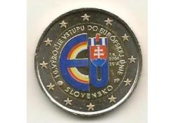 2 Euro Slowakije 2014 10 jaar Eu Gekleurd 214/3