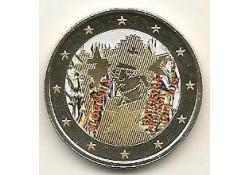 2 Euro Slovenië 2014 Kroning van Barbara van Celje Gekleurd