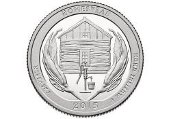 KM ??? U.S.A ¼ Dollar Homestead 2015 D UNC