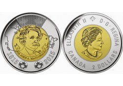 Km+??? Canada 2 Dollar 2014 Unc Remember
