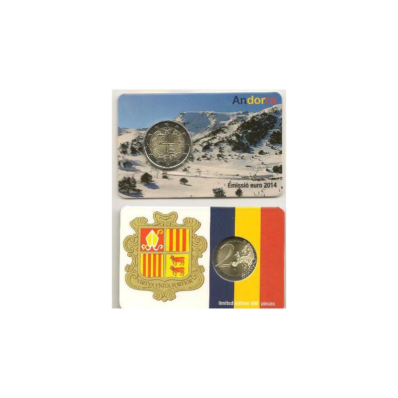 2 Euro Andorra 2014 Unc in Coincard