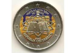 2 Euro Oostenrijk 2007 Verdrag van Rome Gekleurd 045/2