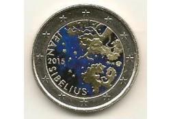 2 Euro Finland 2015 Sebelius Gekleurd
