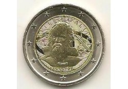 2 Euro Italië 2014 Galileo Galilei Gekleurd
