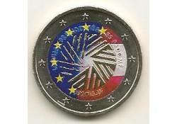2 Euro Letland 2015 Voorzitter Eu  gekleurd