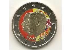 2 Euro Spanje 2014 Troonswisseling Juan Carlos-Felipe Gekleurd