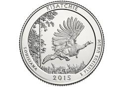 KM ??? U.S.A ¼ Dollar Kisatchie 2015 D Unc