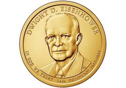 KM ??? U.S.A. 34 th President Dollar 2015 P Dwight  Eisenhouwer