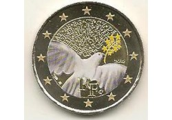 2 Euro Frankrijk 2015 Vrede en Vrijheid  gekleurd