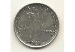 Km 64.2 100 Lire Vaticaan 1960 Pr-