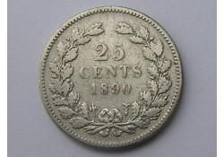 25 Cent 1890 ZF- zonder punt