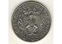 Km 216 100 Lire Vaticaan 1989 Unc-