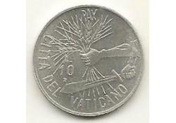 Km 177 10 Lire Vaticaan 1984 Unc-